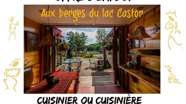 Aux berges du lac castor auberge yourtes chalets for Offre d emploi cuisine collective
